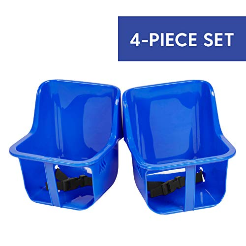 Factory Direct Partners FDP Interactive Children's Table Replacement Kit - 2 Toddler Bucket Seats and 2 Safety Straps for Baby Activity Table (4-Piece Set) - Blue