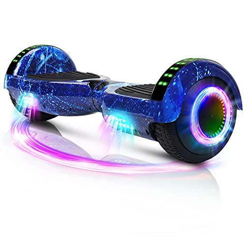 Hoverboard, Overboard per scooter autobilanciato da 6,5 pollici con ruote Altoparlante Bluetooth Luci a LED per bambini Adulti (Stella blu)