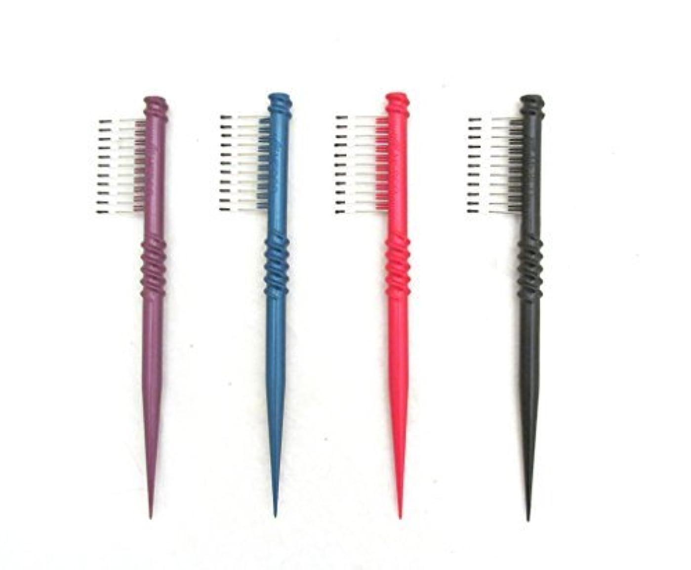 """ヒップ塗抹近傍MEBCO 8"""" Touch-Up Comb (Model: TH1) - Get all 4 colors, Detangler, hair brush, hair comb, pick, pik, pulls out tangles, for all hair length, short hair, long hair, salon [並行輸入品]"""