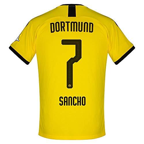 PUMA Borussia Dortmund Home Sancho 7 Trikot 2019-2020 (Offizielle Beflockung) - XL