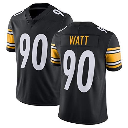 Carrey NFL Trikot, Fußballtrikot, Fan-Version, besticktes Logo, Polyester, kurzärmelig, Polo-Shirt, Trainingsbekleidung Gr. 56, Schwarz 90#