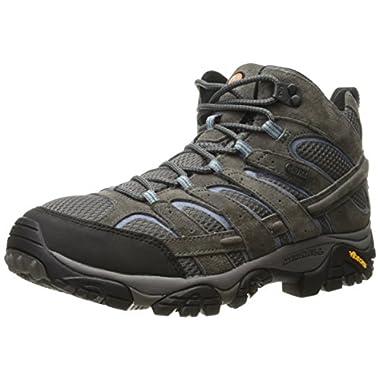 Merrell Women's Moab 2 Mid Waterproof Hiking Boot, Granite, 8.5 M US