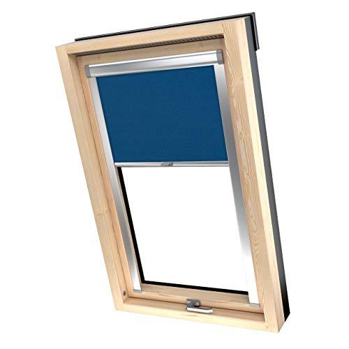 4dekor Dachfenster Rollo Verdunkelung Für Fakro, Thermo Dachfensterrollo Ohne Bohren, Verdunkelungsrollo Für Schräge Fenster, Rollos zum Verdunkeln 100% Sonnenschutz, 17 Größen, 13 Farben