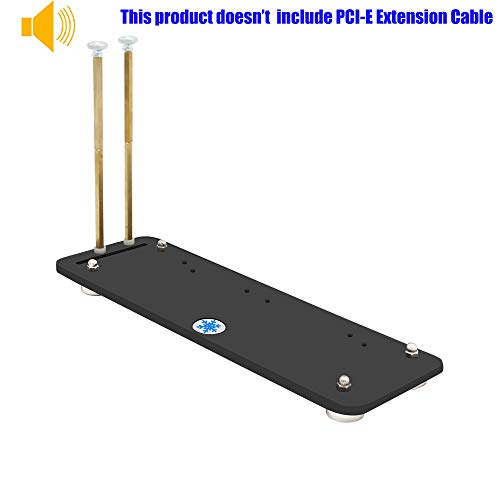 PCI- E 3.0 16X Graphics Card Vertical Kickstand/Base Magnetic Standoff DIY ATX case (Black)