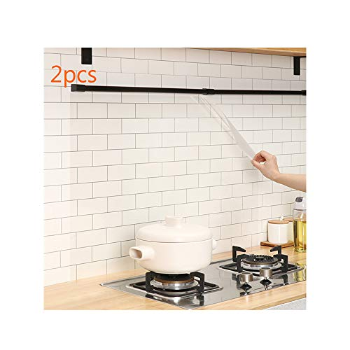 CUNYA Küche Öl Beweis Wasserdicht Aufkleber Selbstklebend Folie Küche Tapete Hitzebeständig Herd Öldicht Aufkleber für Arbeitsplatte Schrank Haushalt (Transparent)