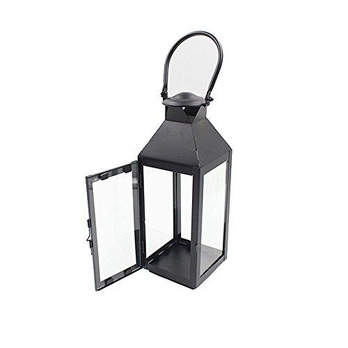 Bougeoir/Lanternes en Fer, Style Vintage Lanterne Intérieure/Extérieure pour Décorations Maison Cour/Pavillon/Bois/Jardin/Jardin à thé (26 * 11 cm)