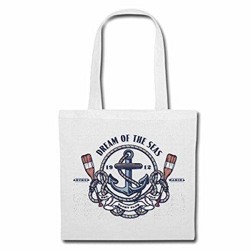Tasche Umhängetasche Dream of The SEA Yacht Club Marine Segelschiff Piratenschiff RETTUNGSSCHIFF Anker Skull Pirat SEGELBOOT Segelschiff Steuerrad Totenkopf SEERÄUBER Sailing COLLEKTION Skull Krebs