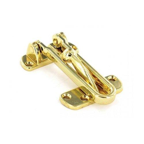 Securit Door Brass Chain /& Bolt Electroplate Brass 80mm S1636 6366