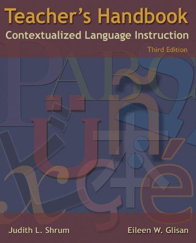 Teacher's Handbook: Contextualized Language Instruction