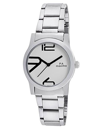 Maxima Attivo Analog White Dial Women's Watch - 28020CMLI
