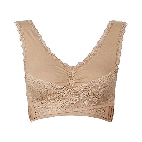 TRI Wunder-BH, Überkopf anziehbarer BH, schöne Brustform, elastische Spitze, extrabreite Träger, traumhaftes Dekolleté, Büstenhalter, hautfarben, verschiedene Größen