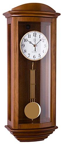 JVD Klassische Wanduhr Pendel Funk Uhr Eiche Westminster Regulateur Funkuhr