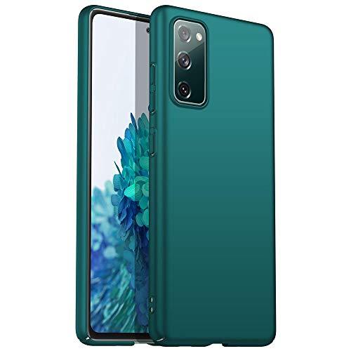 Anceky Funda ultrafina compatible con Samsung Galaxy S21 FE, ligera, elegante, antiarañazos, antigolpes, carcasa rígida para Samsung Galaxy S21 Ultra (Galaxy S21 Ultra, verde)