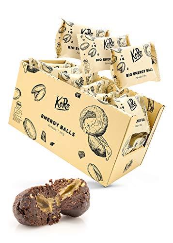 KoRo - Energy Ball Haselnuss 15 x 30 g - Powersnack für zwischendurch aus Datteln mit unserem leckeren Haselnussmus ohne Zuckerzusatz