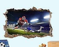 UYEDSRウォールステッカーフットボールゲームアクション3Dウォールステッカー部屋の装飾デカール壁画60x90cm