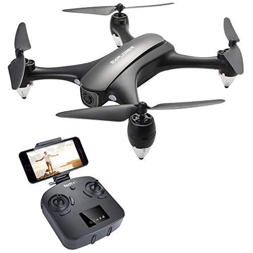 Tech rc ドローン GPS搭載 高度・座標ホバリング 1080P超高画質 120°広角空撮カメラ付き 5GHz リアタイム 18分間超長飛行 マルチコプター フォロミー オートリターン サラウンドモード ヘッドレスモード 国内認証済み ブラック