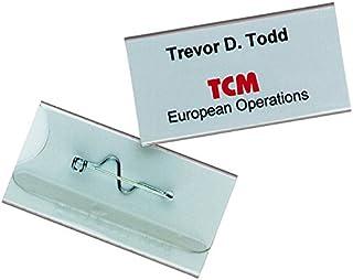Durable 860619 Porte-badge Universel Fixation par Epingle Torsadée pour Insertion Format 30 x 60 mm Plastique Résistant Tr...