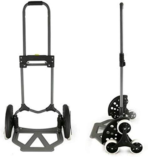 Wghz Foldable Hand Truck, Portable and Durable Mountain Bike Multi-function Stair Cart, Six-wheeled Stair Car