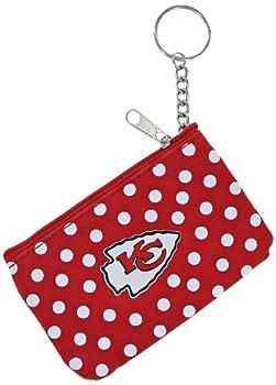 aminco womens NFL Kansas City Chiefs Polka Dots Coin/ID Purse  5
