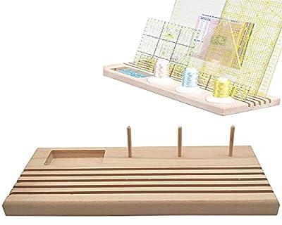 """LNKA Wooden Ruler Rack Quilt Ruler Holder Stand 12.5""""x5"""""""