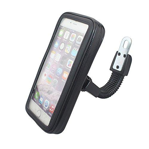 Universelle wasserdichte Motorradhalterung Fall Motorradständer Telefon-Halter-Rückspiegel Halterung für iPhone für Samsung Handy S4 S5 S6 S7 Hinweis 2 3 4 5 iPhone 4 5 6 6s 6 Plus LG HTC (XL)
