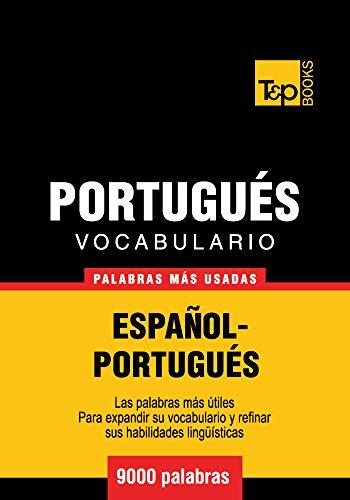 Vocabulario español-portugués - 9000 palabras más usadas (Spanish collection nº 239)