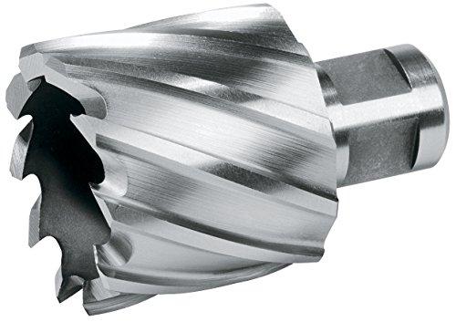 Terrax 108214TX Broca hueca HSS, vástago Weldon, profundidad de corte 30 mm, diámetro 14 mm, largo 63 mm, negro