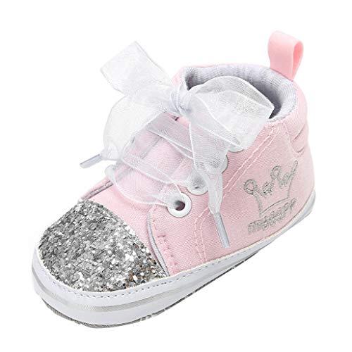 Zapatos de bebé, ASHOP Niña Niño Casuales Zapatillas del Otoño Invierno Suela Vendaje Lentejuelas Primeros Caminantes Deporte Antideslizante del Zapatos Individuales 0-18 Meses (Gris,12-18 Meses)