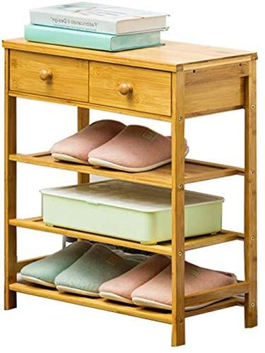Zapatero zapato a prueba de polvo del gabinete del cajón de almacenamiento compartida familia de tres capas de calzado Sustitución del estante zapatero 50x25x60cm Taburete cambiar zapatos