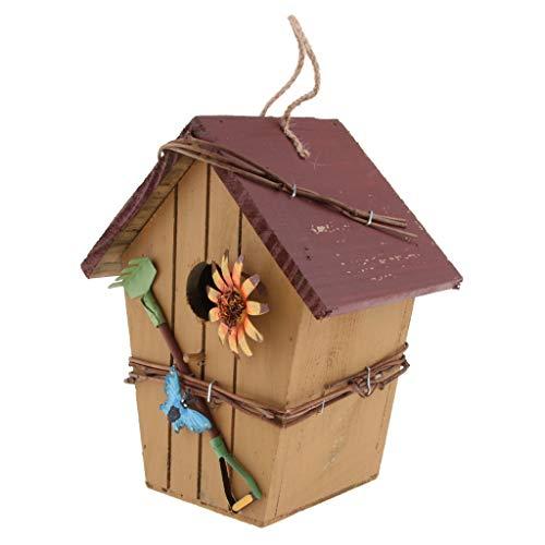 Fenteer Boîte Nid d'oiseaux Animaux Campagne Bird House Nature écologique - Couleur C