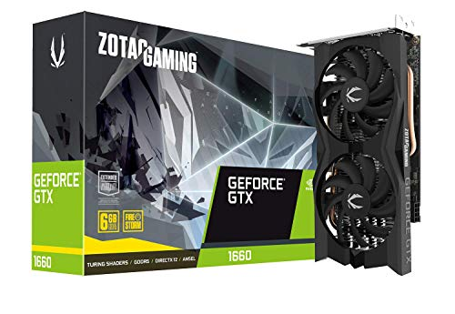 ZOTAC GeForce GTX 1660 Twin Fan 6GB GDDR5 192-bit Super Compact Gaming Graphics Card...