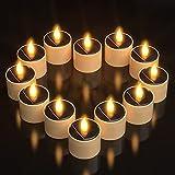 Velas solares LED, Ymenow 6 piezas grandes candelitas impermeables sin llama velas parpadeantes para jardín, boda, cumpleaños, fiesta, decoración al aire libre - Blanco cálido