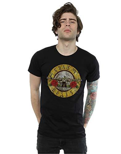 Guns N Roses hombre Vintage Bullet Logo Camiseta Large Negro