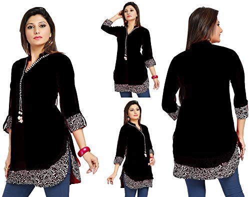 Unifiedclothes UK Stock - moda damska impreza indyjska kurti tunika kurta top koszula sukienka SC1030B
