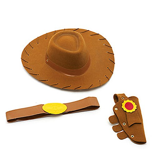 EVA Brown Kids Cowboy Hat Toy Story Woody Fancy Dress Party Dressing Up Roleplay Fun
