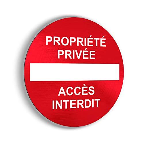 imaggge.com Panneau Rigide Propriété privée/Accès Interdit - Application sur Poteau, Mur, Porte de Garage - Ultra résistant - Aluminium (Pas PVC) - 20 cm