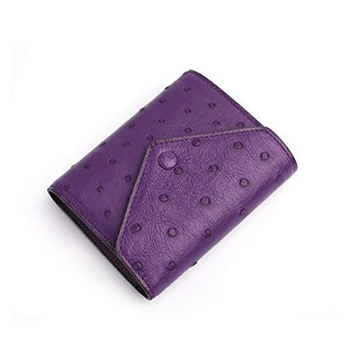Straußenleder-Geldbörse für Handy, modisch, für mehrere Karten