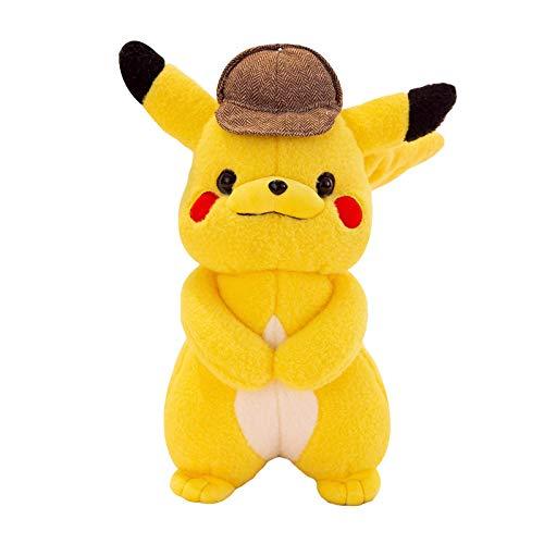 JMUNG Anime Pokemon Big Detectived Movie Pikachued Soft Plush Doll Toy 35Cm, como Decoración del Hogar, Cumpleaños