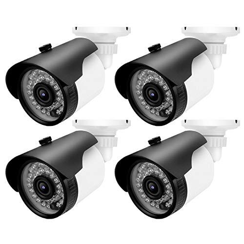 FOLOSAFENAR Cámara analógica IR Cámara CCTV analógica Campo de visión de 72 Grados Lente de 3.6 mm para Interiores y Exteriores(NTSC System)