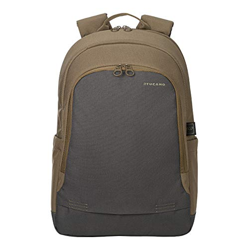 Tucano - Zaino Porta Pc 15.6' Pollici, Compatibile con MacBook PRO 16. Backpack Bico, Zaino Imbottito da Ufficio e università, in Poliestere Riciclato