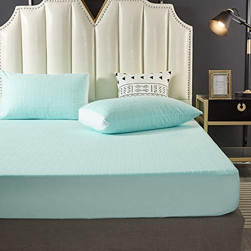 haiba Protector de colchón extra profundo de algodón para falda lateral, tamaño superking, calidad de hotel, comodidad y protección, 120 x 200 cm