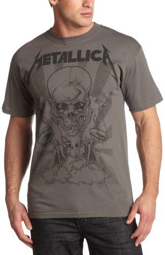 Bravado Men's Metallica Pushed Boris T-Shirt, Charcoal, X-Large
