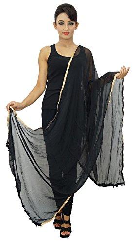 Frauen tragen Chiffon Mischung Dupatta Ansatz-Verpackungs-lange Stola Indischen Schal Chunni