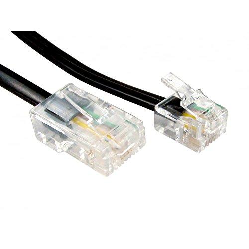World of Data da 1m a 20m RJ11 (ADSL) a cavo RJ45 (rete) - utilizzato per collegare modem o router alle maschere filtrate ADSL. Colore: Nero Dimensioni: 15m