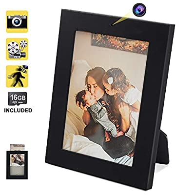16GB Hidden Nanny Camera Picture Frame Motion Activated Video Recorder with Photo Taking Function, Support 64GB Memory Card in Max