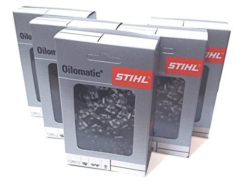 【5本SET】Stihl(スチール)チェン チェンソー替え刃 3610-000-050 【適合バーサイズ:約35cm】※MS170C,MS180C,MS192C,MS211C,MSE140C