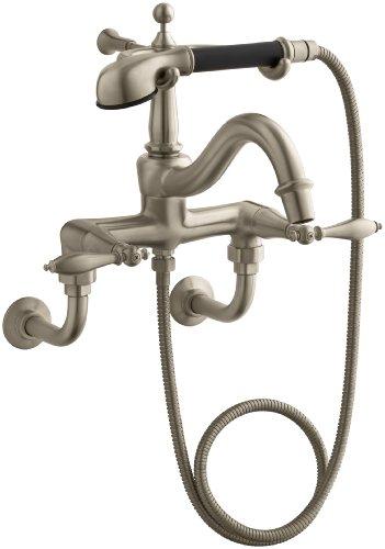 KOHLER K-331-4M-BV Finial Traditional Bath Faucet, Vibrant Brushed Bronze