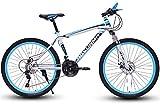 Bicicleta de carretera de la ciudad de cercanías, Bicicletas de montaña, 24/26 pulgadas 21/24/27/30 bicis de la velocidad, contenedor duro de bicicletas de montaña, los hombres y los frenos de disco d