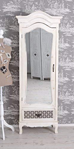 Kleiderschrank Shabby Chic Wäscheschrank Weiss Spiegelschrank Antik Palazzo Exclusiv