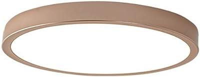 LZZRI Holz 2-Ring LED-Deckenleuchte Modern Dekor Wohnzimmer-Lampe Runde Dimmbar Deckenlampe Fernbedienung Acryl-Schirm Inkl Ultrad/ünne Schlafzimmer Deckenlicht 52Cm
